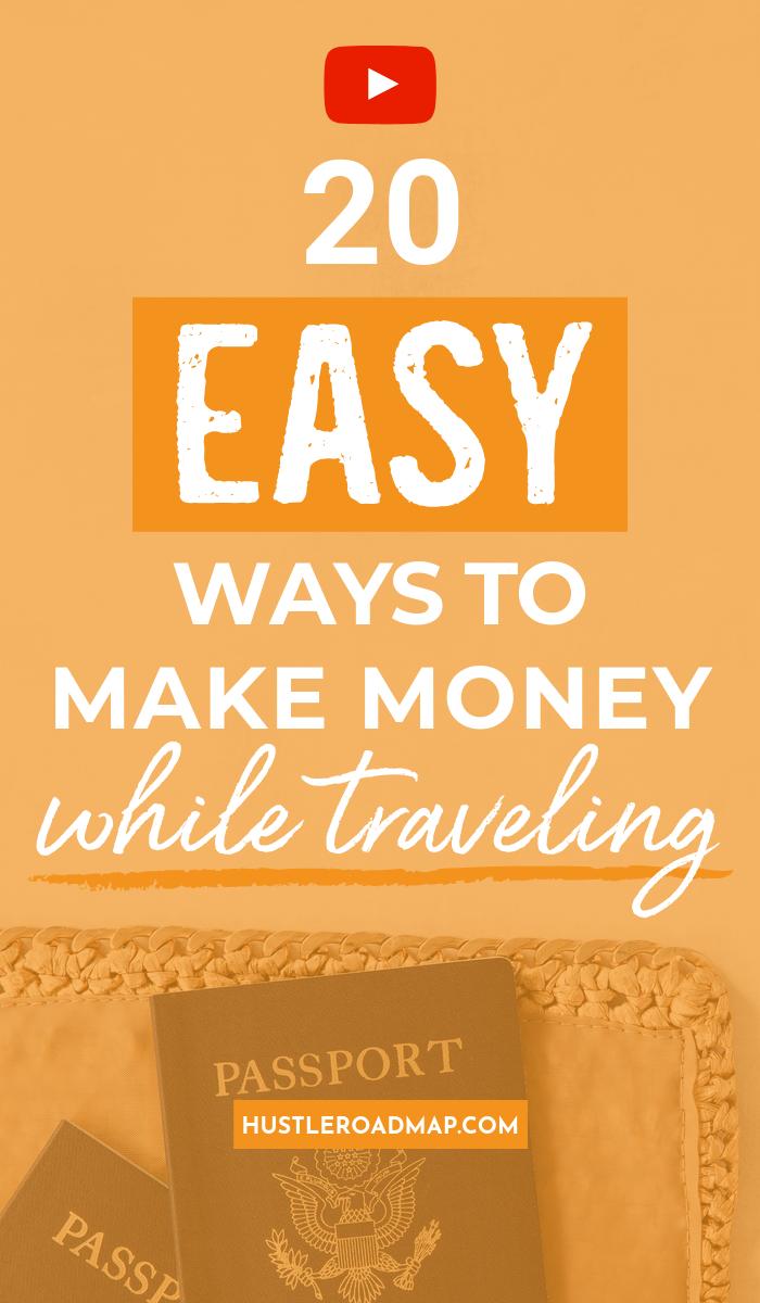 20 Best Travel Jobs: Easy Ways To Make Money While Traveling #passiveincome#makemoneyonline#moneymakingideas#makemoney#workfromhome#travel#travellingjobs